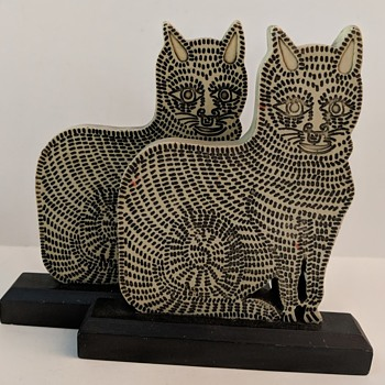 Whimsical Cat Bookends - Any Ideas? - Animals