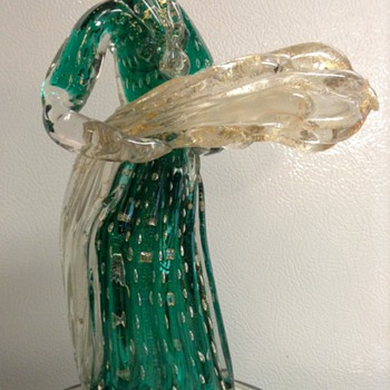 Murano Glass Figurine by Gio Ponti for Barovier c. 1920s-1930s