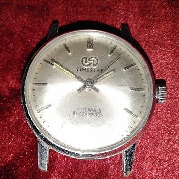 Vintage TimeStar India Made 17 Jewels Shockproof IFTI 1306 Wrist Watch - Wristwatches