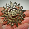 Vintage Mexican/Aztec, Sterling Brooch, 1960-70