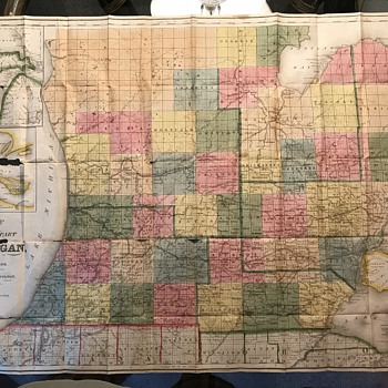 "1840 ""Surveyed Part of Michigan"" by John Farmer - Paper"