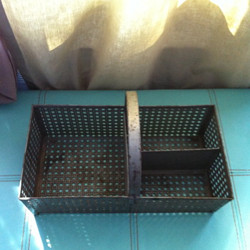 Industrial metal bin.