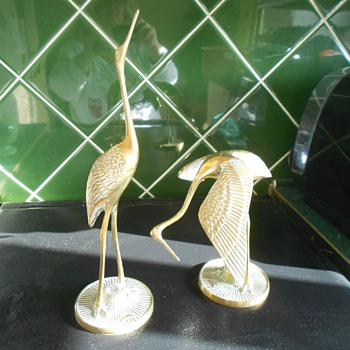 Brass Cranes. Vintage. - Figurines