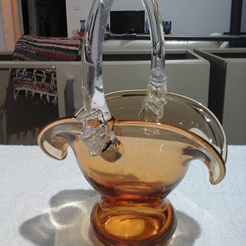 My Amber and Glass Basket - Art Glass