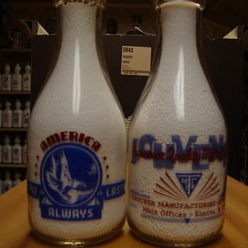 Thatcher Souvenir Milk Bottle With War Slogan........