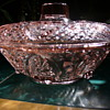 Pink Pressed Glass Bowl