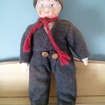 ANTIQUE VINTAGE HOLLAND Dolll with HAT plus SCARF - Dolls