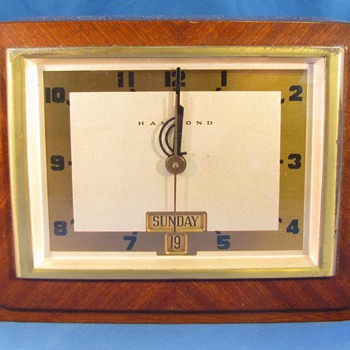 "Hammond Calendar Clock, ""Dayton"" 1941"