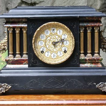 Sessions Black Parlour Mantel Clock - Clocks