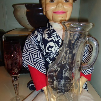 Vintage Wine Carafe!! Glass!  Simon uses all day long  and then Uses it at night??? Strange Boy! - Glassware
