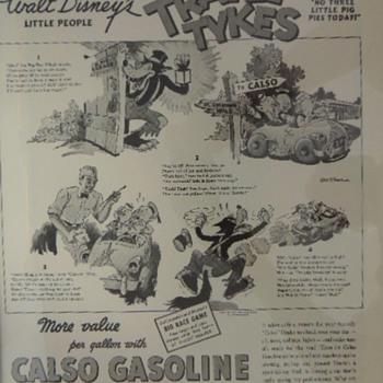 DISNEY CASLO GASOLINE AD - Advertising
