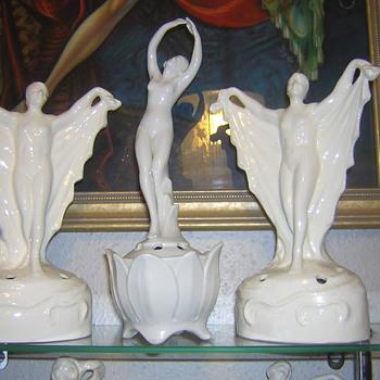 Art Deco German Scarf Dancers - Art Deco
