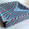 1980s Australian studio art glass Postmodern Memphis style dish - Ian Mowbray