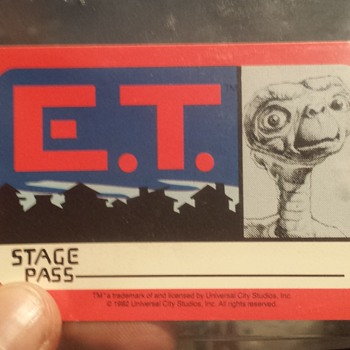 E.T. Stage pass from the movie set