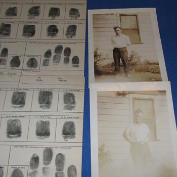 1931 Original Prisoner Photos from N.J. State Police - Photographs