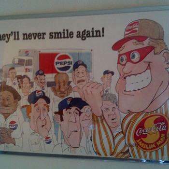 """""""Smilin Man"""" Coca-Cola Poster - Coca-Cola"""
