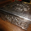 Silver plated rich decorated jewelry box