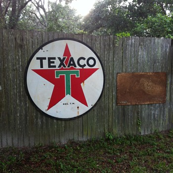 Texaco six foot sign double sided