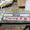 Old Glass & Plastic Gasoline Pump Insert Signs