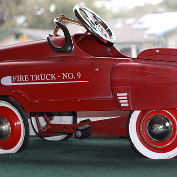 Unknown Fire truck NO.9  Pedal car R Stamped caps - Model Cars