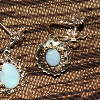 14k Opal Earrings (Matching the Necklace)  - Fine Jewelry