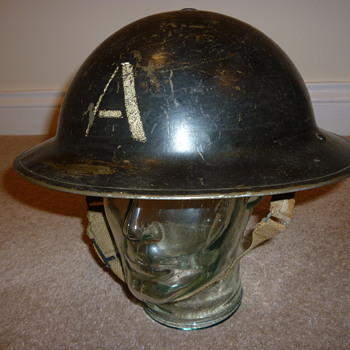 British WW11 Ambulance crew steel helmet.