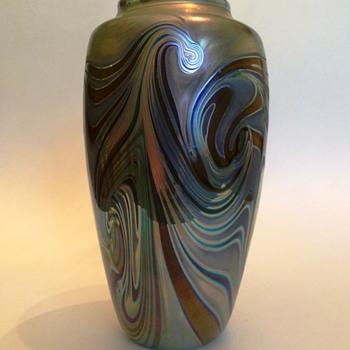 Craig Zweifel Pulled Swirl Vase - Art Glass