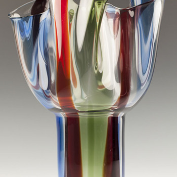 "1992 Timo Sarpaneva for Venini ""Kukinto"" Vase - Art Glass"
