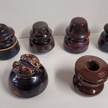 Brown Porcelain Insulators - Tools and Hardware
