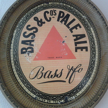 oval heavy tin bass pale ale sign