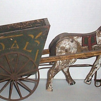 DAD'S TOY HORSE AND BUGGY - Folk Art