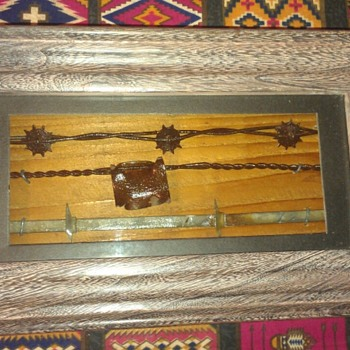 Barbed Wire Shadow Box - Tools and Hardware