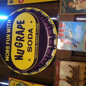 NuGrape Soda Vintage Sign/Sunbeam Bread Sign - Signs