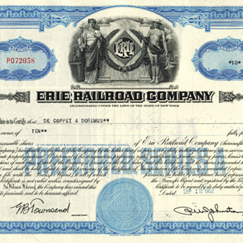 East Coast 1950s/60s Railroad Stock Certificates - Railroadiana