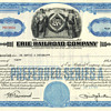 East Coast 1950s/60s Railroad Stock Certificates