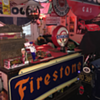 1947 Firestone tin sign