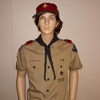 Saturday Evening Scout Post 1992 BSA Uniform Shirt With Patches - Medals Pins and Badges