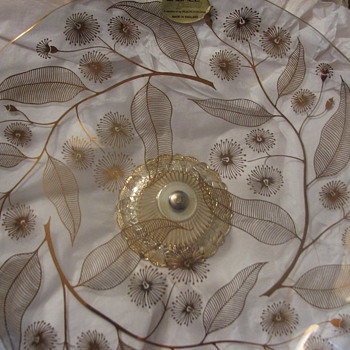 """Floral cristal plate """"Chance Glass"""" - Glassware"""