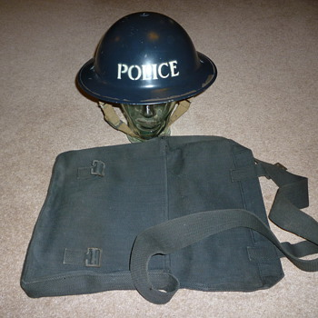 British WW11 Police steel helmet.