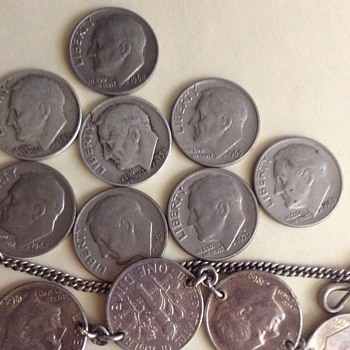 Roosevelt dime collection.