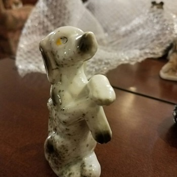 Little Beggar Dog Figurine - looks like someone trained him well!