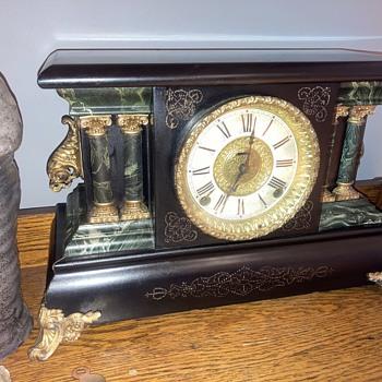 1881 -1885 E. Ingraham 'Adrian' model shelf clock - after - Clocks