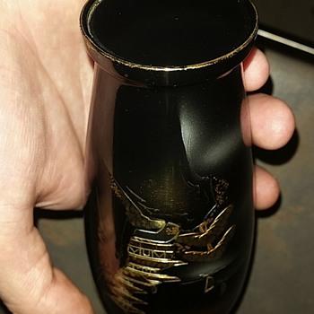 Inlaid metal japanese vase circa 1930ish