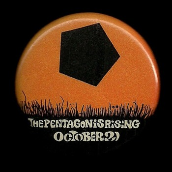 1967 Pentagon Rising Vietnam Protest pinback button - Medals Pins and Badges