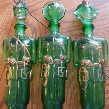 Glass liquor decanters  - Bottles