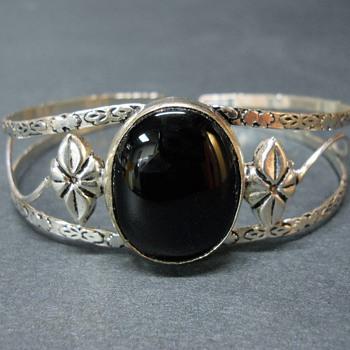 Vintage Art Nouveau Sterling Cuff bracelet, Early 20 century - Art Nouveau