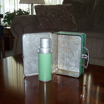 Pre 1930's Landers, Frary & Clark Lunchbox with Thermos - Kitchen