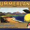 Summerland lemon crate label Montecito Santa Barbara 1930s