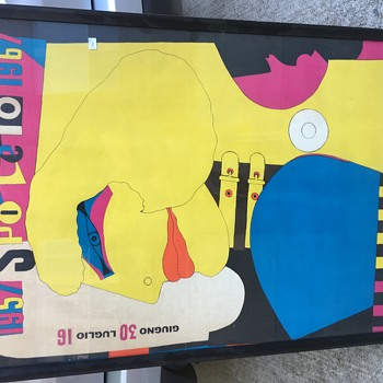 SPOLETO 1967 RICHARD LINDNER advertising poster