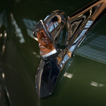 1953 DeSoto Light Up Hood Ornament - Classic Cars